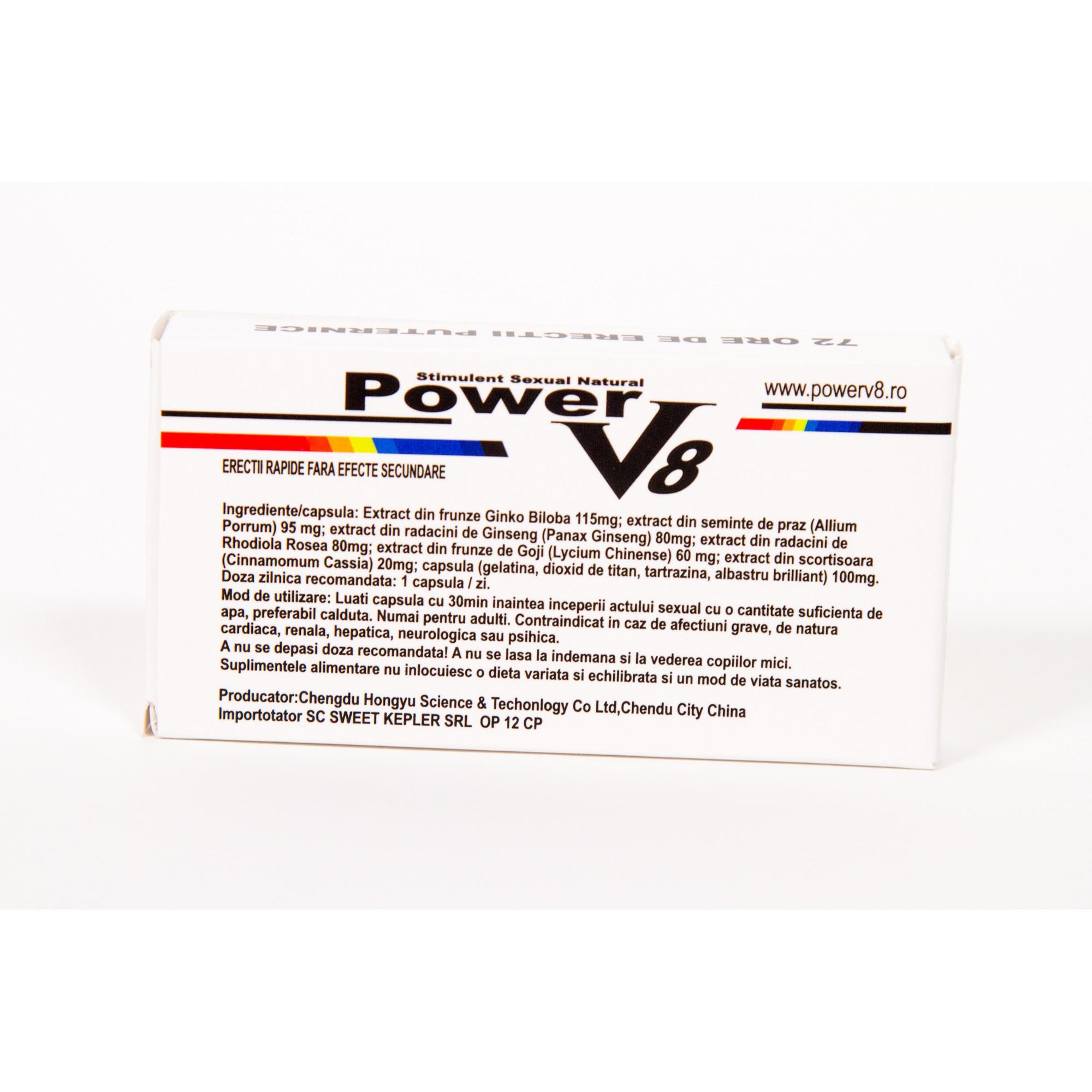 Strong V - pastile pentru erectie instant