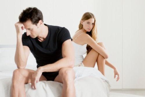 erecția a dispărut în timpul actului sexual