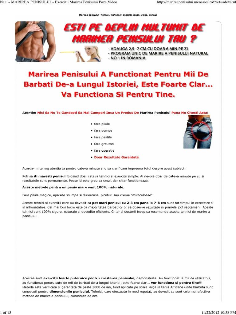 Exercitii pentru marirea penisului ghid gratuit